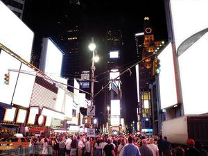 Time Square in White